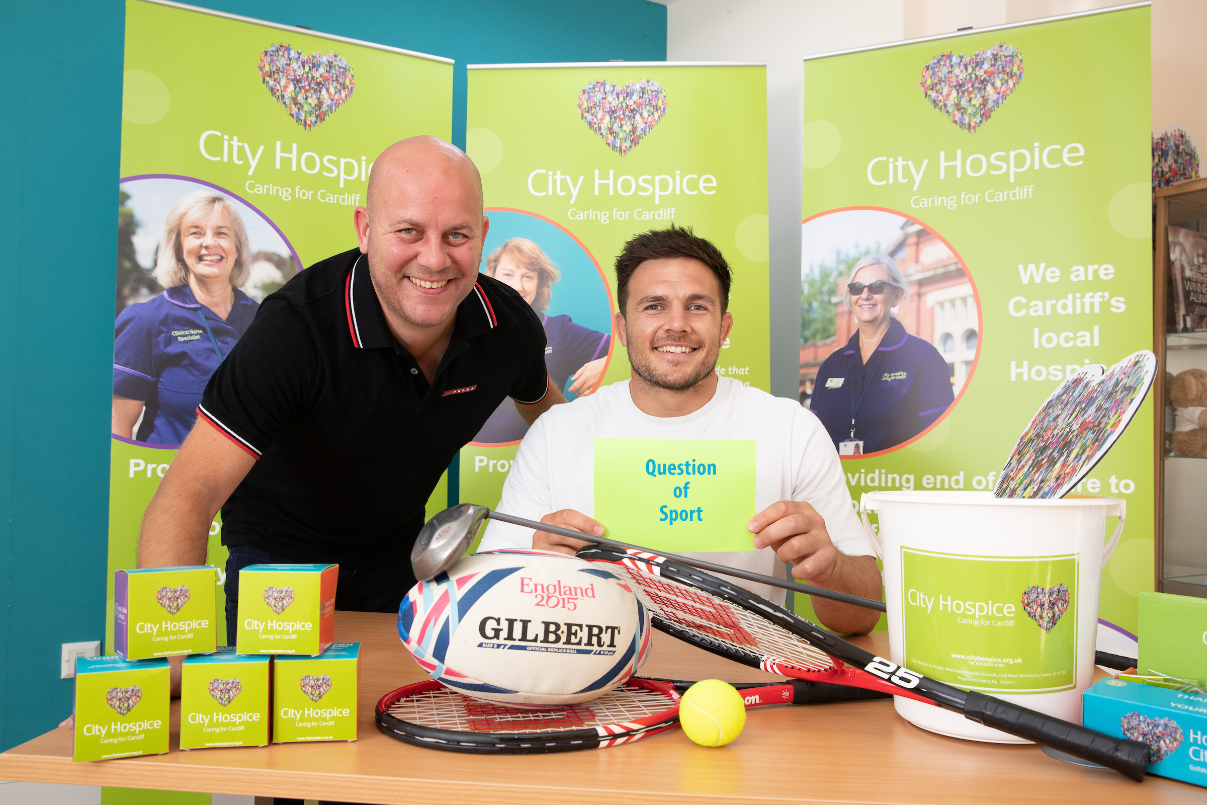 Ellis Jenkins supports City Hospice Question of Sport