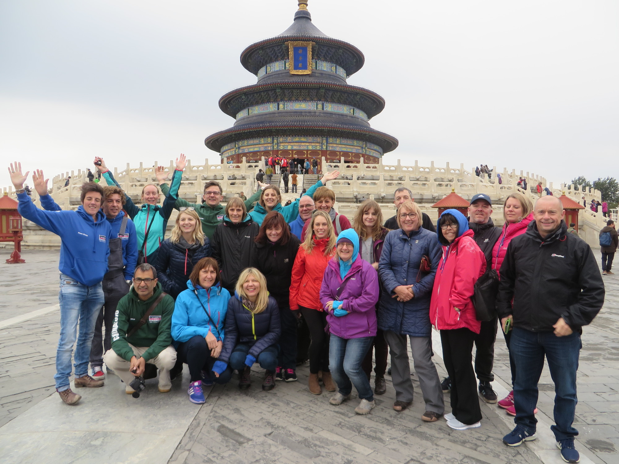 Great Wall of China charity trek walkers