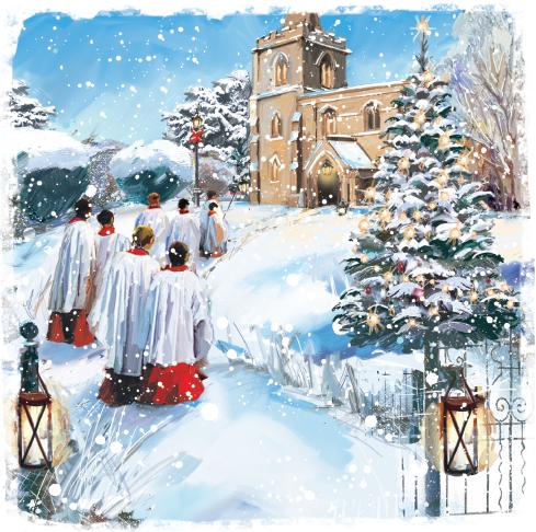 Choir Boys Christmas Card