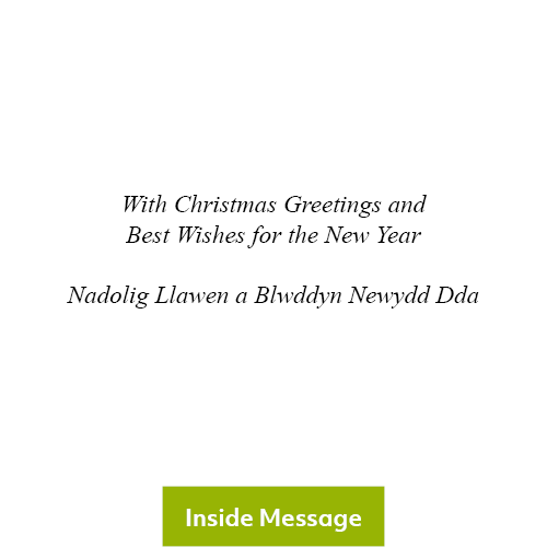 Christmas Poinsettia Christmas Card 2020 - Inside Message