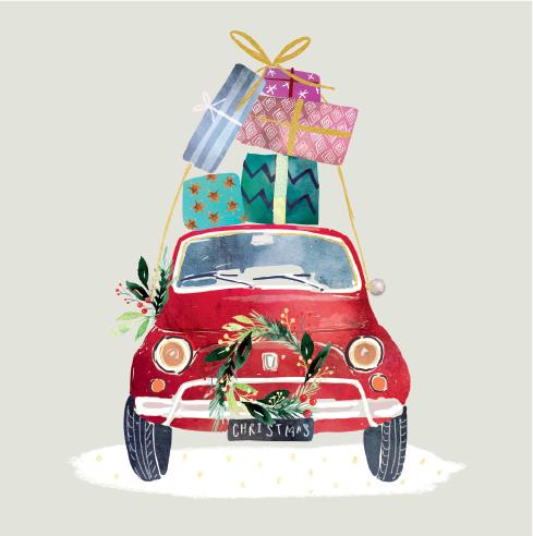 Driving Home For Christmas Christmas Cards